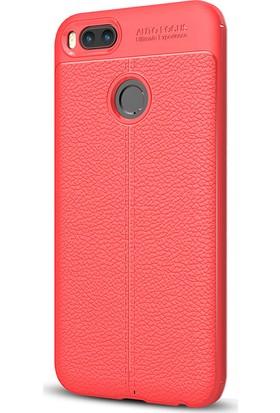 Gpack Xiaomi Mi5X Kılıf Silikon Focus Kılıf Kırmızı + Cam + Kalem