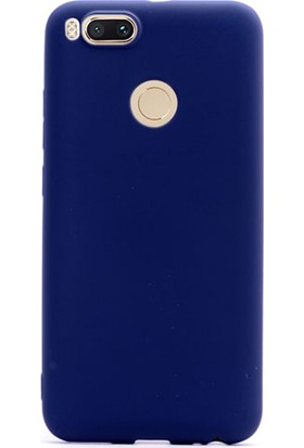 Gpack Xiaomi Mi5X Kılıf Premier Silikon Kılıf Lacivert + Cam