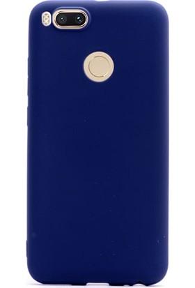 Gpack Xiaomi Mi5X Kılıf Premier Silikon Kılıf Lacivert + Cam + Kalem