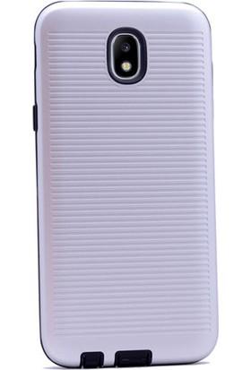 Gpack Samsung Galaxy J5 Pro 2017 Kılıf Youyou Tarz Silikon Arka Kapak Gümüş + Cam