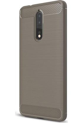 Gpack Nokia 8 Kılıf Room Silikon Kılıf Bej + Cam