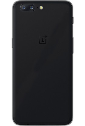Gpack Oneplus 5 Kılıf 02 Mm İnce Silikon Kılıf Siyah + Cam