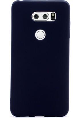 Gpack LG V30 Kılıf Silikon Premier Kılıf Siyah + Cam + Kalem