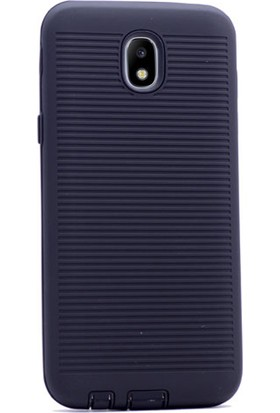 Gpack Samsung Galaxy J7 Pro 2017 Kılıf Youyou Tarz Silikon Arka Kapak Siyah + Cam