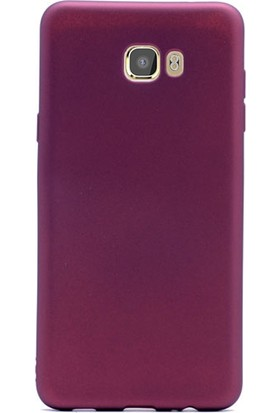 Gpack Samsung Galaxy C5 Pro Kılıf Premier Silikon Kılıf Mor