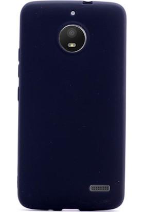 Gpack Motorola Moto E4 Kılıf Premier Yumuşak Doku Silikon Siyah + Cam