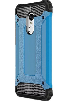 Gpack Xiaomi Redmi Note 4X Kılıf Darbe Emici Crash Arka Kapak Mavi + Cam