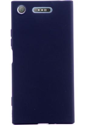 Gpack Sony Xperia XZ1 Kılıf Premier Yumuşak Doku Silikon Case Siyah + Cam
