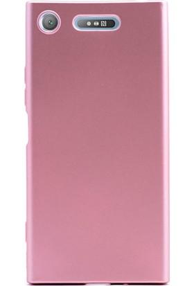 Gpack Sony Xperia XZ1 Kılıf Premier Yumuşak Doku Silikon Case Bronz + Kalem + Cam