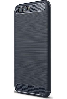Gpack Asus Zenfone 4 ZC554KL Kılıf Niss Tarz Silikon Arka Kapak Lacivert + Cam