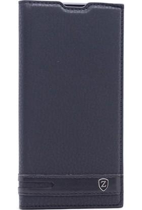 Gpack Motorola Moto E4 Plus Kılıf Gizli Mıknatıslı Düz Elite Siyah + Kalem + Cam