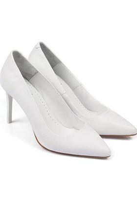 Gön Deri Kadın Ayakkabı Beyaz 15316