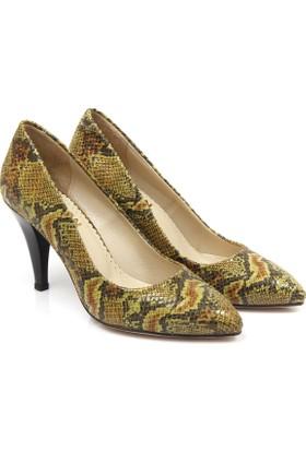 Gön Deri Kadın Ayakkabı Yeşil 20292