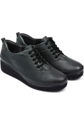 Gön Deri Kadın Ayakkabı Haki 36019
