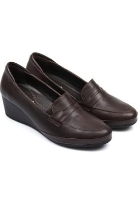 Gön Deri Kadın Ayakkabı Kahverengi 46356