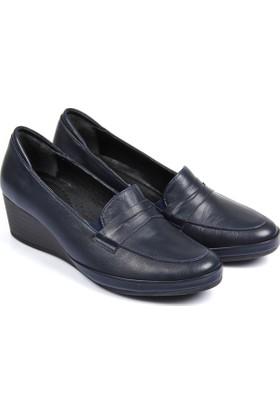 Gön Deri Kadın Ayakkabı Lacivert 46356