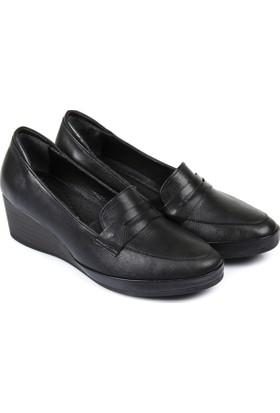 Gön Deri Kadın Ayakkabı Siyah 46356