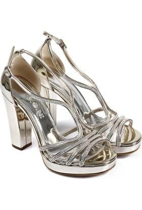 Gön Kadın Ayakkabı Platin 94713