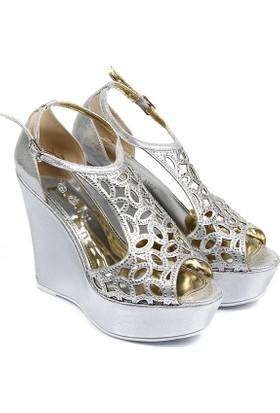 Gön Kadın Ayakkabı Gümüş 94774