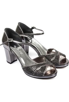 Gön Kadın Ayakkabı Platin 94776