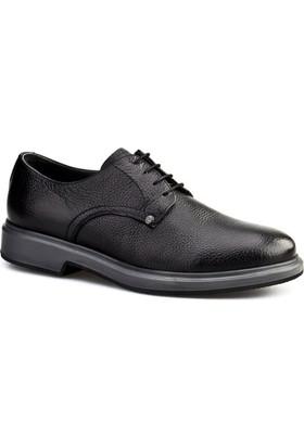 Cabani Bağcıklı Erkek Ayakkabı Siyah Naturel Floter Deri