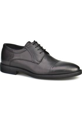Cabani Bağcıklı Erkek Ayakkabı Siyah Şırınkıl Deri