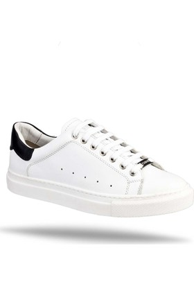 Cabani Bağcıklı Sneaker Kadın Ayakkabı Beyaz Soft Deri