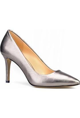 Cabani Stiletto Klasik Kadın Ayakkabı Gri