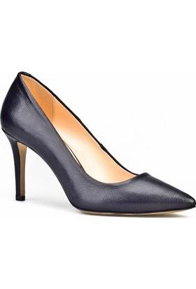 Cabani Stiletto Klasik Kadın Ayakkabı Siyah Analin Deri