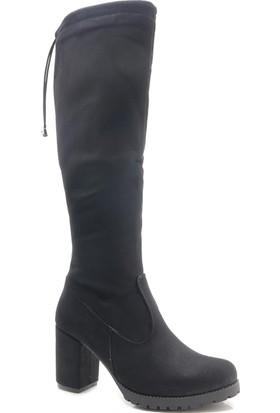 Perim W00101 Tay Tüy Topuklu Kadın Çizme
