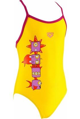 Arena 1A48739 Kg Gill Kids Yellow Jr Kız Çocuk Mayo