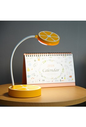 Portakal Tasarımlı Masaüstü Dokunmatik Led Çalışma Lambası