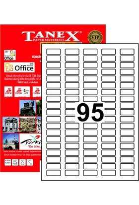 Tanex Yazıcı Etiketi 30x12 mm 9500 Adet Model TW-2095