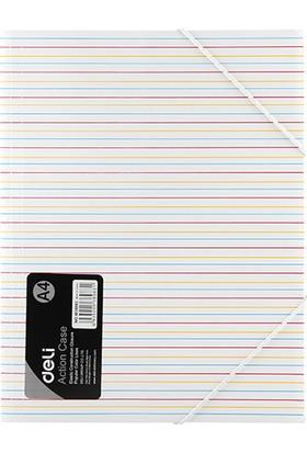 Deli A4 Lastikli Dosya W38983 Renk - Beyaz