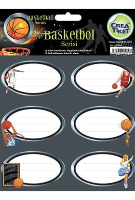 CreaTiket 1019 Basketbol Serisi Okul Etiketi