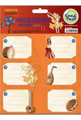 CreaTiket 1042 Geleneksel Müzik Serisi Okul Etiketi