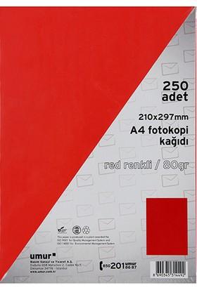 Umur Fotokopi Kağıdı A4 80Gr Renkli Red 250