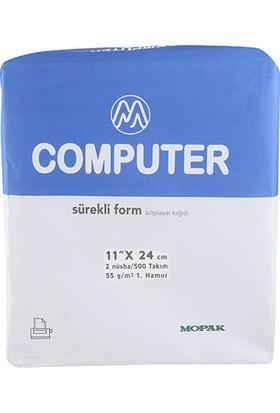 "Mopak Sürekli Form 11"" x 24 cm 2 Nüsha Düz 500'lü"