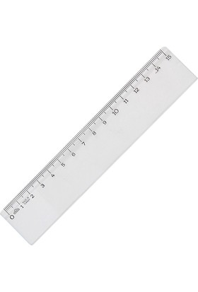 Hatas Cetvel Plastik Bürü Tipi Geniş 15 Cm 00140