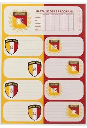 Galatasaray Ders Programlı Okul Etiketi 3'lü