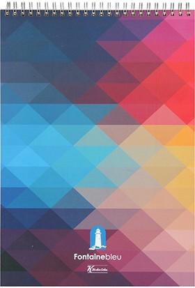 Keskin Color Bloknot A4 100 Yaprak Kareli Fontaine Blue