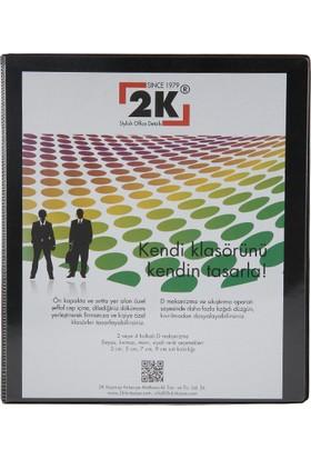 2k 4 Halkalı Klasör Pvc Cepli 3 cm Renk - Siyah
