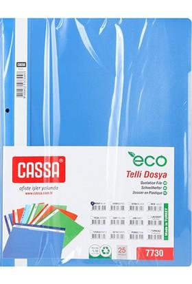 Cassa Telli Dosya 25'li Ekonomik Renk - Mavi