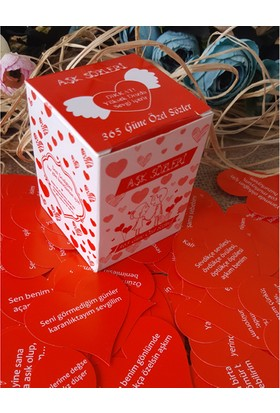 Şirin Hediye Aşk Sözleri Sevgiliye Hediye Kutusunda 365 Gün Notları