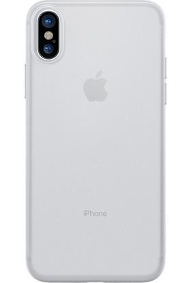 Kılıfshop Apple iPhone X İnce Silikon Kılıf + Ekran Koruyucu