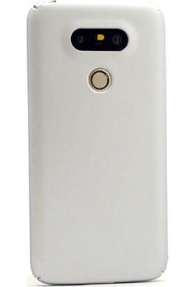 Gpack LG G5 Kılıf Sert Ruber Arka Kapak + Nano Glass