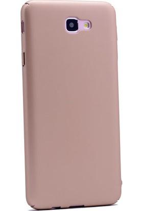 Gpack Samsung Galaxy J5 Prime Kılıf Sert Ruber Arka Kapak + Nano Glass