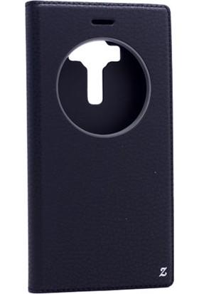 Gpack Asus Zenfone 3 ZE552KL Kılıf Kapaklı Mıknatıslı Pencereli + Nano Ekran Koruyucu