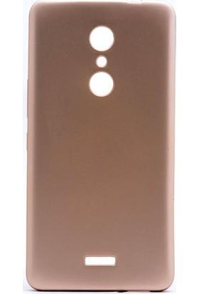 Case 4U Alcatel A3 XL Kılıf Slim Fit Mat Silikon Altın