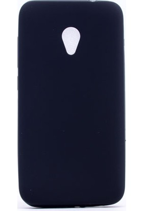 Case 4U Alcatel U5 Kılıf Slim Fit Mat Silikon Siyah
